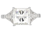 Moissanite Platineve Ring 3.16ctw DEW.