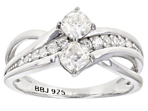 Moissanite Platineve® Ring .82ctw DEW