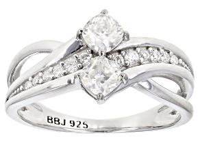 Moissanite Platineve® Ring .82ctw DEW