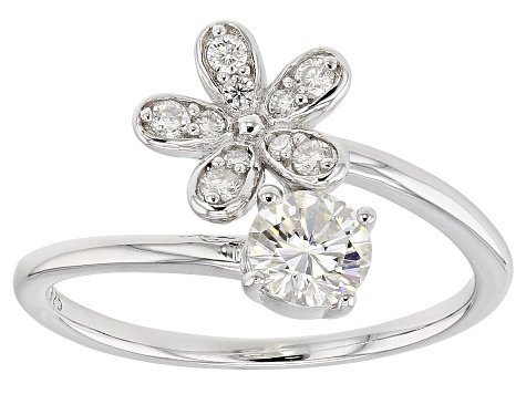 Moissanite Platineve® Ring .65ctw DEW