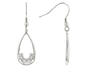 Moissanite Platineve earrings .60ctw DEW.