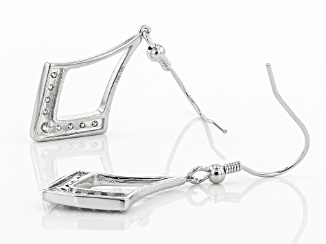 Moissanite Platineve Earrings .66ctw DEW