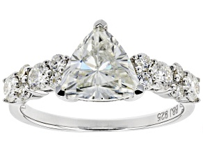 Moissanite Platineve Ring 2.24ctw DEW