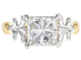 Moissanite Platineve And 14k Yellow Gold Over Platineve Two Tone  Ring 3.10ct D.E.W