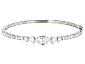 Moissanite Platineve bracelet 3.54ctw DEW.