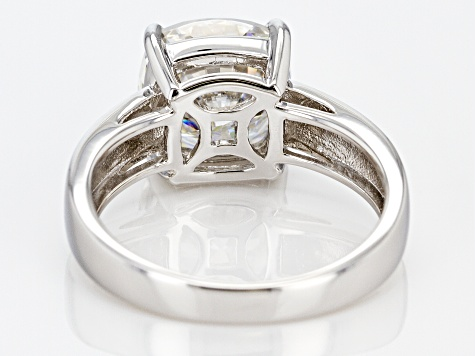 Moissanite Platineve Ring 4.20ct DEW.