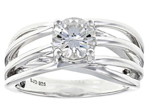 Moissanite Platineve Ring 1.00ct DEW.