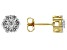 Moissanite 14k Yellow Gold Over Silver Earrings   .84ctw DEW.