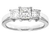 Moissanite Platineve Ring 1.62ctw DEW.