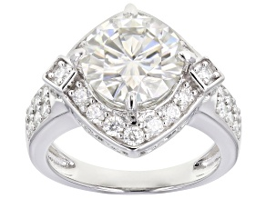 Moissanite Platineve Ring 4.30ctw DEW.