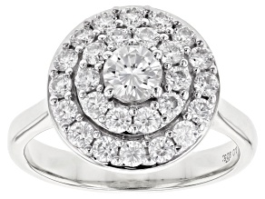 Moissanite Platineve Ring 1.11ctw DEW.