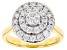 Moissanite 14k Yellow Gold Over Silver Ring 1.11ctw DEW.