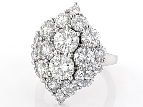 Moissanite Platineve Ring 7.36ctw DEW