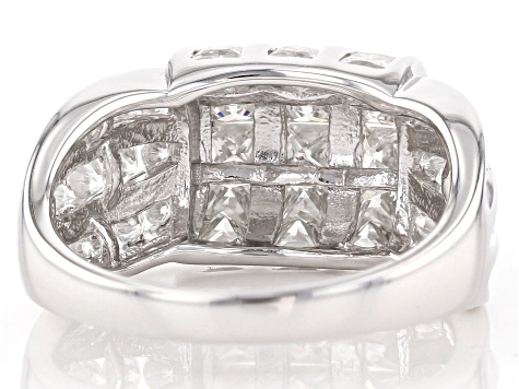 Moissanite Platineve Ring 2.54ctw DEW