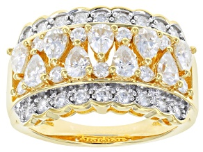 Moissanite 14k Yellow Gold Over Silver Ring 1.44ctw     DEW.