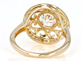 Moissanite 14k Yellow Gold Over Silver Ring 1.52ctw DEW.
