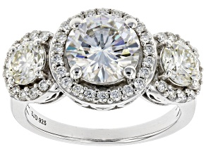 Moissanite Platineve Ring 3.34ctw DEW