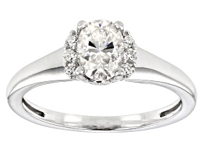 Moissanite Platineve Ring 1.02ctw DEW.