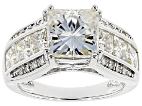 Moissanite Platineve Ring 5.72ctw DEW.