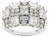 Moissanite Platineve Ring 3.77ctw DEW.