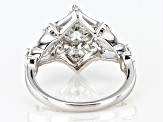 Moissanite Platineve Ring 1.88ctw DEW.