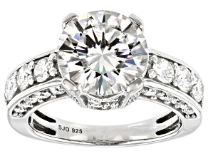 Moissanite Platineve Ring 4.88ctw DEW.