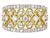 Moissanite 14k Yellow Gold Over Silver Ring 1.40ctw DEW