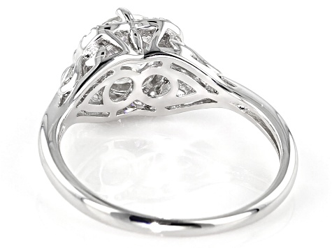 Moissanite Platineve Ring 1.32ctw DEW.