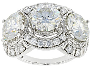 Moissanite Platineve ring 9.14ctw DEW.