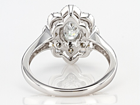 Moissanite Platineve Ring 1.70ctw DEW.