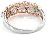 Moissanite Platineve And 14k Rose Gold Two-Tone Ring .27ctw DEW.