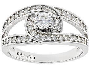 Moissanite Platineve Ring .67ctw DEW.