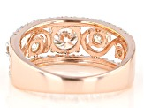 Moissanite 14k Rose Gold Over Silver Ring 1.60ctw DEW.