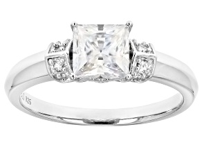 Moissanite Platineve Ring 1.28ctw DEW.