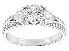 Moissanite Platineve Ring 1.60ctw DEW.