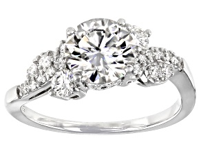 Moissanite Platineve Ring 1.90ctw DEW.