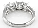 Moissanite Platineve Ring 1.64ctw DEW.