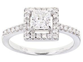 Moissanite Platineve Ring 1.10ctw DEW.