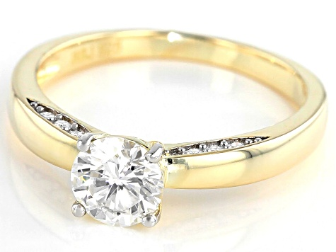 Moissanite 14k Yellow Gold Over Silver Ring .96ctw DEW.