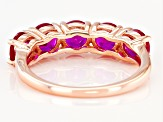 Scott's Spring Collection Lab Created Pink Sapphire 18k Rose Gold Over Silver Band Ring 2.33ctw