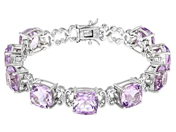 Picture of Lavender Amethyst Rhodium Over Sterling Silver Bracelet 30.60ctw