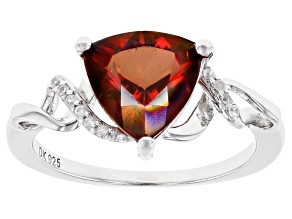 Red Labradorite Rhodium Over Silver Ring 1.92ctw