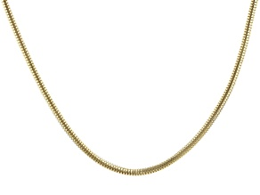 18k Yellow Gold Over Stainless Steel Chain