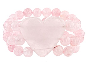 Pink Rose Quartz Stretch Bracelet