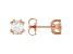 Moissanite 14k Rose Gold Over Sterling Silver Stud Earrings 1.00ctw DEW