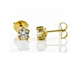 Moissanite 14k Yellow Gold Over Sterling Silver Stud Earrings 1.00ctw DEW
