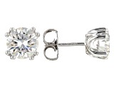 Moissanite Fire® 2.00ctw Diamond Equivalent Weight Round Platineve® Stud Earrings