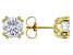 Moissanite Fire® 2.00ctw DEW Round 14k Yellow Gold Over Sterling Silver Earrings