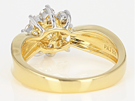 Moissanite 14k Yellow Gold Over Sterling Silver Ring .70ctw DEW