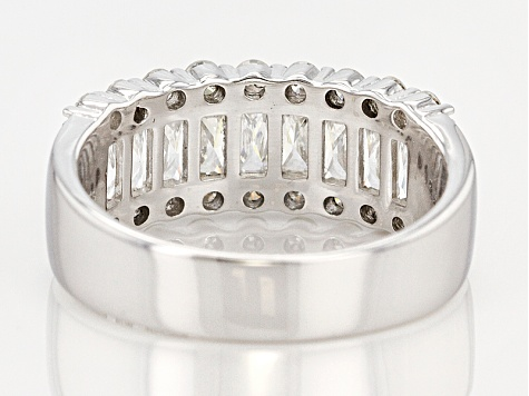 Moissanite Platineve Band Ring 1.60ct DEW.